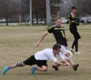 Freshman Thomas Smith got foot blocked by a Kennesaw State defender at the Alabama tournament. Smith had three D's in the game. PHOTO BY: Will Hanna